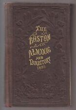 1885 BOOK - BOSTON ALMANAC AND BUSINESS DIRECTORY - 1885 No.50