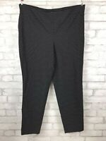 Torrid Flaming Heart Logo Black Stretch Casual Pant W/ Polka Dots Plus Size 4 26