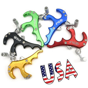 4 Finger Release Aids Thumb Trigger Grip Caliper Archery Compound Bow Handle