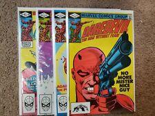 Daredevil 181, 182, 183, 184 Lot Vf or Better (Apr 1982, Marvel) Frank Miller