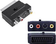 TV SCART Adapter AV SVHS 3x Cinch Chinch S-Video in out Schalter umschaltbar