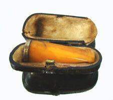 Butterscotch sigari-punta in vera baltic succinico ARGENTO 900 in astuccio per 1920