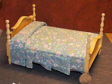 Dollhouse Miniature 4 Post Bed Light Oak 1:12 one inch scale F21 Dollys Gallery