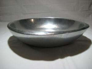 "Rare Vintage 1984 Nambe Large Salad Bowl W167 ~ 12"" X 12"" X 3"" H  ~ Made in USA"