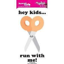 hey kids run with me scissors sticker decal Kawaii Not