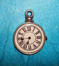 Pendant Clock Charm Pocket Watch Time Piece Charm Clock Charm Watch Charm