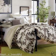 Ginger Lily Green/White Floral 2Pc Twin Reversible Duvet Cover+Sham Set NIP