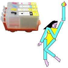 5 X HP 364 REFILLABLE REFILL INK JET CARTRIDGES WITH ARC INCLUDING PHOTO BLACK