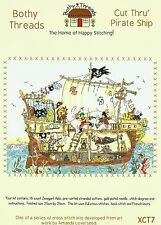 BOTHY THREADS CUT THRU PIRATE SHIP COUNTED CROSS STITCH KIT CROSS SECTION - NEW