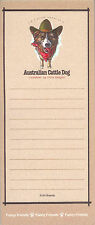 Australian Cattle Dog Funny Friends Magnetic Notepad List Pad