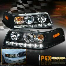 1998-2011 Ford Crown Victoria Projector LED Black Headlights Corner Signal Light
