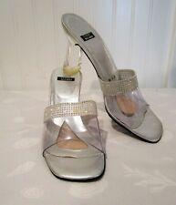 Stuart Weitzman Lucite Block Heel & Crystal Heels, 8.5 Aa, Spain Made, 8.5 Aa