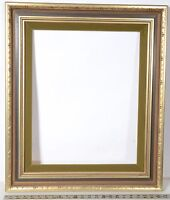 "Antique~Gold~Green Frame~To fit a 16X20 Print ~ 3 ¾ "" Wide Molding With Liner"