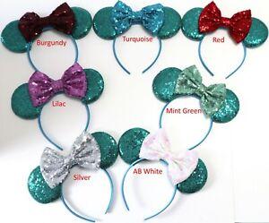 Teal Minnie Ears, Teal Mickey Mouse Ears, Teal Disney Ears HANDMADE