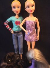 Lot of 2 Spinmaster LIV Barbie Type Articulated Fashion Doll Bodies -WIGS!