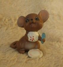 "Vintage Japan Mouse Figurine Miniature 1.5"" Tall"