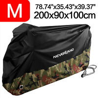 Waterproof Motorcycle Bike Scooter Cover Outdoor Dust Rain Protector Camouflage