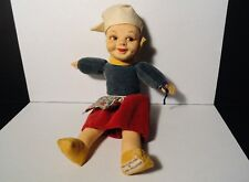 "Vintage Norah Wellings - 8"" Dutch Girl Cloth Doll - Made In England"