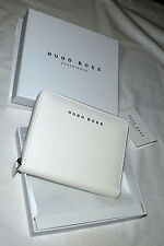 HUGO BOSS Portefeuilles Cuir Synthétique Blanc - White Synthetic Leather Wallet
