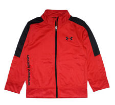 Under Armour Boys Red & Black Track Jacket Size 5
