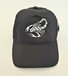 Scorpion Embroidered Baseball Cap Hat in Various Colours