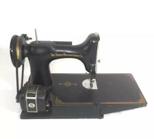 SINGER FEATHERWEIGHT 221K SEWING MACHINE ORIGINAL CASE ACCESSORIES USA BLACK OLD