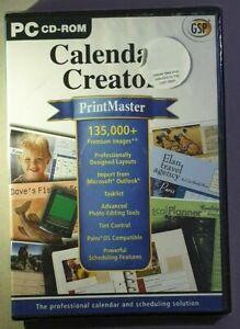 PrintMaster Calendar Creator (PC) Brand New & Sealed gsp cd rom printmaster