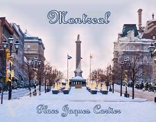 Canada - Old Montreal - PLACE JAQUES CARTIER - Souvenir Flexible Fridge MAGNET