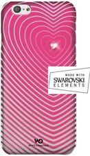 White Diamonds Heart Crystal SWAROVSKI Elements iPhone 6-6s Heartbeat Pink