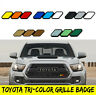 Tri-Color 3 Grille Badge Emblem for Toyota Tacoma Tundra 4Runner TRD Grill
