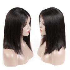 "130% Density Lace Front Human Hair Wigs 14"" Brazilian Short Bob Wig Hair 125g"