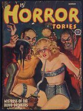 HORROR STORIES Pulp MAGAZINE, March 1940, Good+ Condition