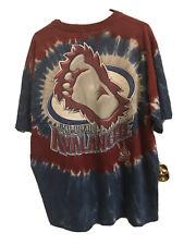 90s Vintage Colorado Avalanche Tie Dye Shirt Classic Bigfoot Logo Xxl