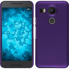 Hardcase for Google Nexus 5X rubberized purple Cover + protective foils