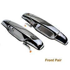 Pair Front Outside Door Handles Chrome for 2007-13 Avalanche Silverado 25960525