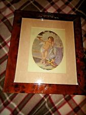 Bombay Company Victorian CHERUB Print - Picture in wonderful frame w bow / swag