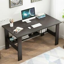 Wood Computer Desk Pc Laptop Table Workstation Study Writing Home Office w Shelf