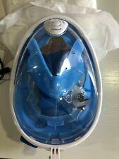Free Breath - FULL FACE Anti Fog Snorkeling/Dive Mask - L/XL - BLUE