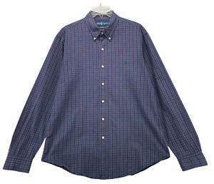Ralph Lauren Custom Fit Men's Long Sleeved Button Front Shirt Size Large Purple