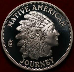 Uncirculated Native American Journey Silver Plated Medal