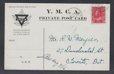 Canada 1916 WWI YMCA Admiral Postcard Troop Transport Halifax
