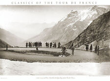 Tour de France BOTTECCHIA ON THE GALIBIER Classic 1924 Cycling POSTER Print
