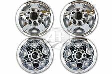 """New 17"""" GM CHEVY 3500 Silverado CHROME RIM WHEEL CENTER CAPS 2008 2009 2010"""