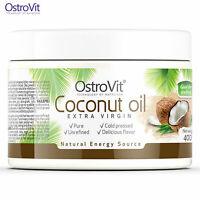 OstroVit Extra Virgin Coconut Oil 100% 400g - Unrefined - Pure - Cold Pressed