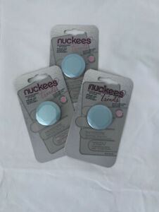 Nuckees Trends Phone Grip And Stand 360 Two-finger Grip - Sky Blue Metal Gem