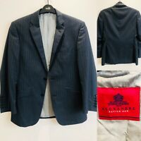 Mens ALEXANDRE SAVILE ROW Grey Suit Blazer/Jacket Size 38'' Short 38S 100% Wool