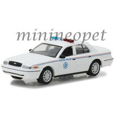 GREENLIGHT 29891 2010 FORD CROWN VICTORIA USPS POLICE CAR 1/64 DIECAST WHITE