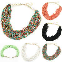Bohemian Womens Classical Beads Nobby Chain Collar Choker Necklace Statement