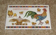 PSX Designs Sticker Sheet ~ Rooster and Chickens