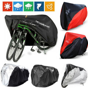 Waterproof Bicycle Cover Garage Rain Snow UV Outdoor Protector For 1/2/3 Bikes